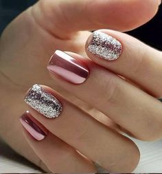 50 Cute Short Acrylic Square Nails Design And Nail Color Ideas For 4 color nail designs - Nail Desing Cute Summer Nail Designs, Cute Summer Nails, Winter Nail Designs, Short Nail Designs, Cute Nails, Pretty Nails, Nail Art Designs, My Nails, Nails Design