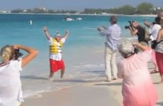 Watch Jose Andres Greet Anthony Bourdain On A Beach By Flying In On A Jetpack (click through for video)