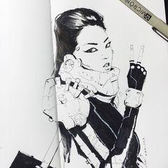 Showtime Girls by Maciej Kuciara #art #illustration #character #girl #sketch