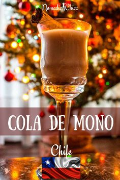 Learn how to preprare this traditional Chilean drink. Served in Christmas sunny time! Click for the recipe!