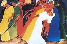 Dancing for the Lord by Bernard Stanley Hoyes Open Edition Print (Signed) 22 1/2 x 31 1/2