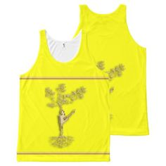 Gold Silhouette of a women together with a tree 2 All-Over-Print Tank Top - yoga health design namaste mind body spirit