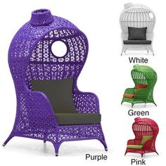 Kaya Club Chair; I'm not sure about the little hat looking thing on top, but the rest of it is cool.  I would choose either white or green.