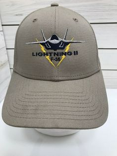 06f96575c0a F 35 Lightning II KSF Cap Hat Tan Fighter Stealth Airplane Lockheed  Strapback  NewEra  BaseballCap  Casual