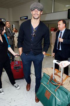 19/05/0215 : David Gandy arriving at Nice airport for the Annual Cannes Film Festival