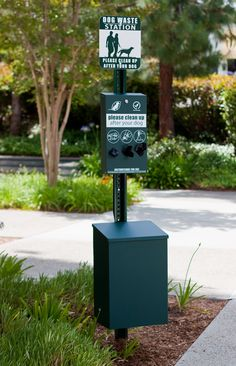 For just outside the facility for our guests -- Dog Waste Stations   Dog Park Equipment   Pet Waste Disposal Stations