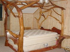 Image From Viennawoodworks Stores Images 808 Log Twig Bed King