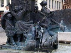 Frankfurt, An der Hauptwache, Struwwelpeterbrunnen (Struwwelpeter fountain)