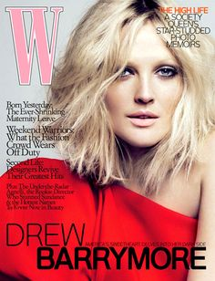 Drew Barrymore by Mert and Marcus for W [April Drew Barrymore, New Hair, Your Hair, Beauty Skin, Hair Beauty, Great Hair, Cut And Color, Hair Dos, Hair Inspiration