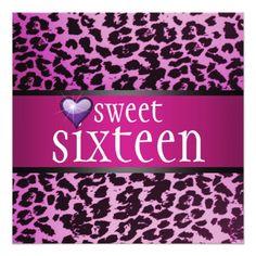 Zebra Sweet Sixteen Invitation Invitations Online Purchase Design Rsvp
