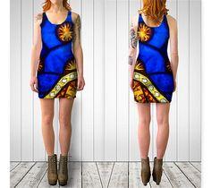 Dandelion Dress Fitted Dress Flare Dress Black by GriffingsCloset Flower Dresses, Dance Dresses, Short Dresses, Scoop Neck Dress, Purple Dress, Dress Black, Sexy Shorts, Flare Dress, Bodycon Dress