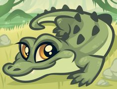 How to Draw a Baby Alligator, Alligator Baby, Step by Step, Reptiles, Animals, FREE Online Drawing Tutorial, Added by Dawn, August 6, 2012, 12:48:53 am