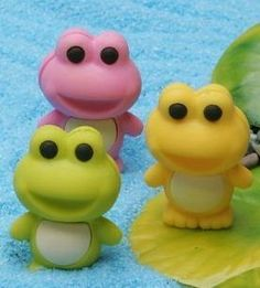 Japanese Eraser Frogs- 3 Colors Yellow, Green & Pink by BC Mini. $3.99. Iwako Erasers Imported from Japan.. Iwako Erasers Imported from Japan.