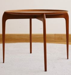 Hans Engholm and Sv. Age Willumsen; Teak Tray Table for Fritz Hansen, c1950.