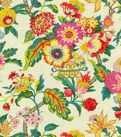 Waverly Print Fabric-Graceful Garden/Spring