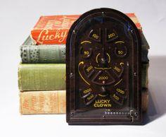 Bakelite Pinball Game 1930s 1940s  Lucky Clown by LuckyPatina, $20.00