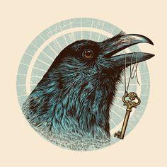 "Raven's Head by Rachel Caldwell ART PRINT / MINI (8"" X 8"") $19.00"