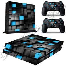 Cube Abstract Sticker Skin for Playstation 4 PS4 Console  2 Free PS4 Controller skins ps4_12