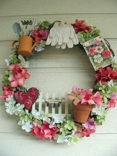 Garden themed wreath
