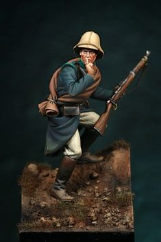Soldiers on foot - Virtual Museum of Historical Miniatures Military Figures, Military Diorama, Crime, Military Modelling, Virtual Museum, Miniature Figurines, American War, Toy Soldiers, Figure Painting