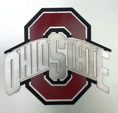 Ohio State Wall Art metal ohio state (large) wall art | ohio, ohio state buckeyes and