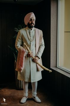 Best Of Punjabi Groom Outfits That You Must Bookmark For Your Wedding Wedding Sherwani, Sikh Wedding, Punjabi Wedding, Wedding Groom, Boho Wedding, Farm Wedding, Wedding Couples, Wedding Reception, Wedding Ideas