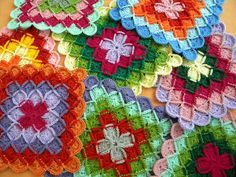 I love these crochet squares.