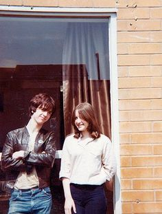 Johnny Marr with Angie, his wife, soon after they met in the late 70s