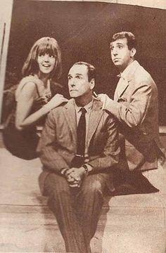 Protagonistas del programa de TV, LA NENA: Marilina Ross, Osvaldo Miranda y Joe Rígoli, Canal 13, Buenos Aires, 1965.