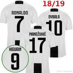 2018-2019 Juventus Stadium New Season Ronaldo #7 Commemorative Limited Edition Soccer Jersey Mens