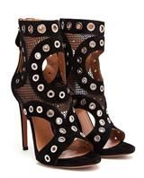 AZZEDINE ALAÏA | Eyelet Studded Suede Heels | Browns fashion & designer clothes & clothing