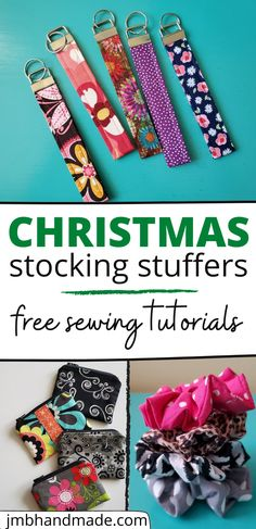 Christmas Sewing Projects, Small Sewing Projects, Sewing Projects For Beginners, Sewing Tutorials, Sewing Crafts, Sewing Diy, Handmade Christmas Gifts, Christmas Stocking, Fabric Gifts
