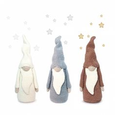 Tall Christmas Gnome Amigurumi Pattern
