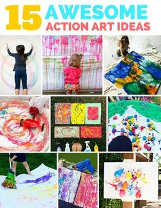 15 Awesome Outdoor Action Art Projects for Kids. So many fun creative and collaborative art projects for kids. Perfect for summer art projects!