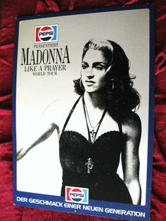 Like A Prayer World Tour Recalled Poster Pepsi Madonna  http://stores.ebay.com/Madonna-Mania-Memorabilia