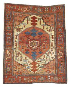 A Heriz carpet, Northwest Persia