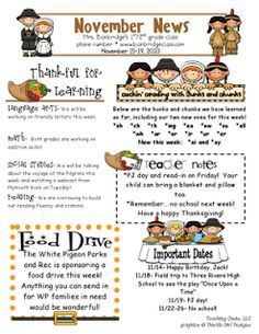 Newsletter idea for children 39 s ministry age groups memory for Class newsletter ideas