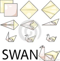Cygne d origami