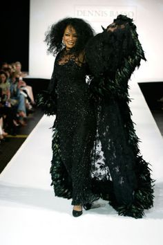 19 celebrities who have walked the catwalk: Diana Ross for Dennis Basso, 2003.