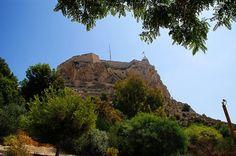 El castillo de Santa Barbara desde zona norte