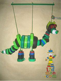 """Bottle top puppet ("""",)"""