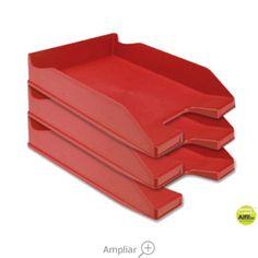 BANDEJA SOBREMESA PLASTICO Q-CONNECT ROJO OPACO Tray, Dessert Tray, Trays, Red