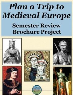 Students review a semester of Medieval History by creating a travel guide booklet representing what they learned during the semester. The file includes a thorough explanation of what students must address, a sample selection of items to cover, a sample layout to get students started, instructions for how to create the brochures, and a points distribution totaling 175 points.