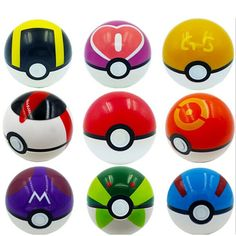 9 Pieces Plastic Super Anime Figures Balls for Pokemon Kids Toys Balls…