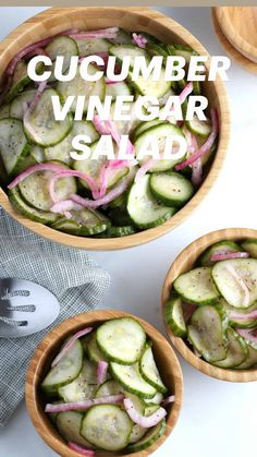 Cucumber Recipes, Healthy Salad Recipes, Raw Food Recipes, Vegetable Recipes, Appetizer Recipes, Diet Recipes, Healthy Snacks, Vegetarian Recipes, Healthy Eating