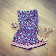 """I like the romper/dress only """"BlueTique Cheap Chic   A Fun & Affordable Boutique"""""""