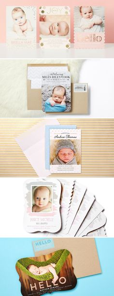 Your special delivery is finally here! Find the perfect birth announcement for your baby girl or baby boy and introduce your brand new bundle of joy to everyone. More than 400 birth announcements available to provide you with inspiration and ideas.