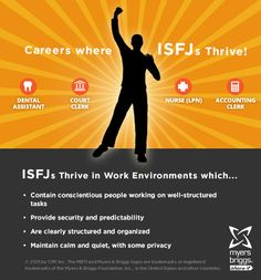 The careers and workplaces where ISFJs thrive! #MBTI #myersbriggs #careers