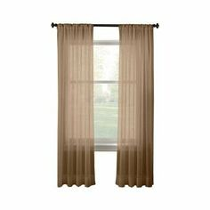 """Pair of Taupe Sheer Panel Window Treatment Curtains by HLC.ME. $6.95. Each panel is approximately 54"""""""" wide and 84"""""""" in Length. For a full look use 2 panels to cover a standard size window. This picture shows two sheer panels, this package contains two (2) Sheer Panel. Decorate every window with style and sophistication. Allows natural light to flow through the room Add a Sheer Scarf for an elegant finished look (not included) Have pocket insert that create a clean, tailored..."""