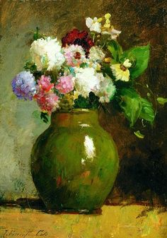 Joseph Foxcroft Cole  Still Life with Flowers  19th century